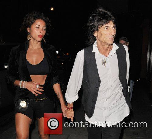 Ana Araujo and Ronnie Wood 3