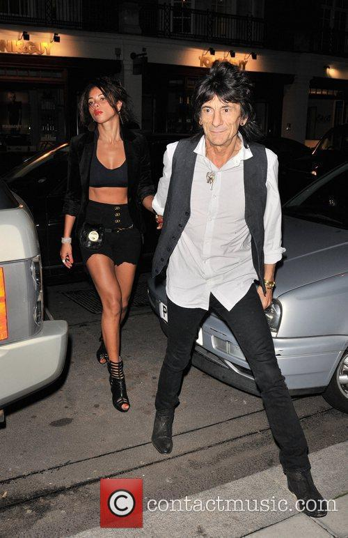 Ana Araujo and Ronnie Wood 5