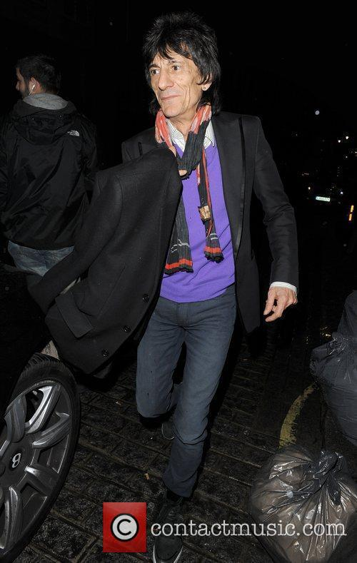 Ronnie Wood, His Girlfriend Ana Araujo Leaving A Restaurant In Mayfair and Having Enjoyed Dinner There Together 4