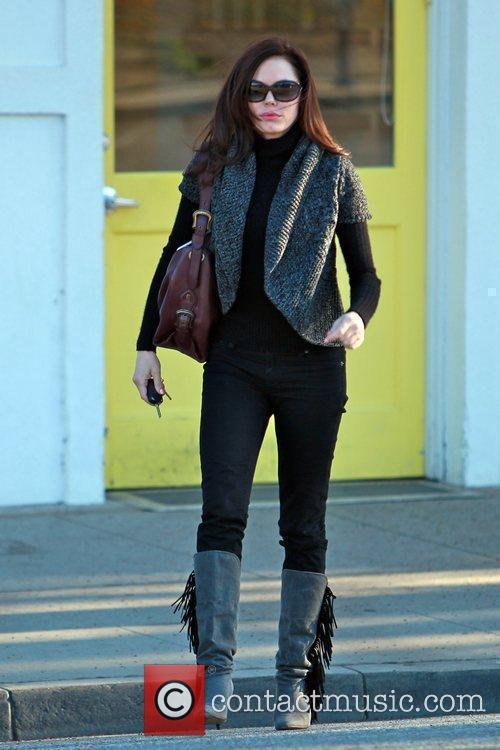 Departs the Byron & Tracey salon in Beverly...