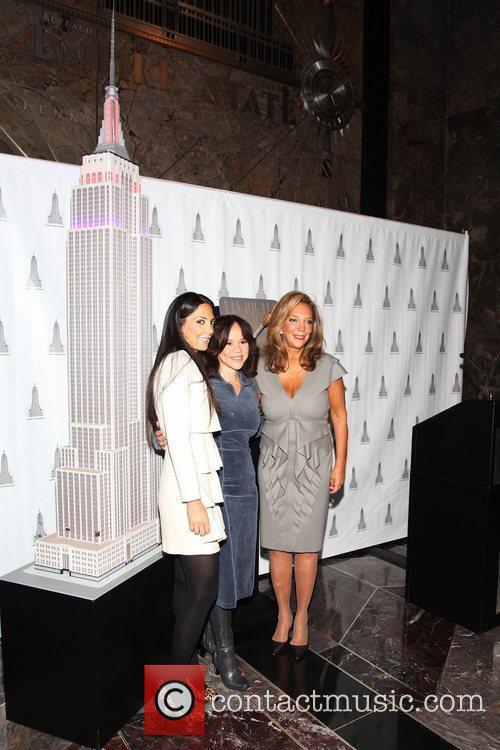 Denise Rich and Rosie Perez light the Empire...
