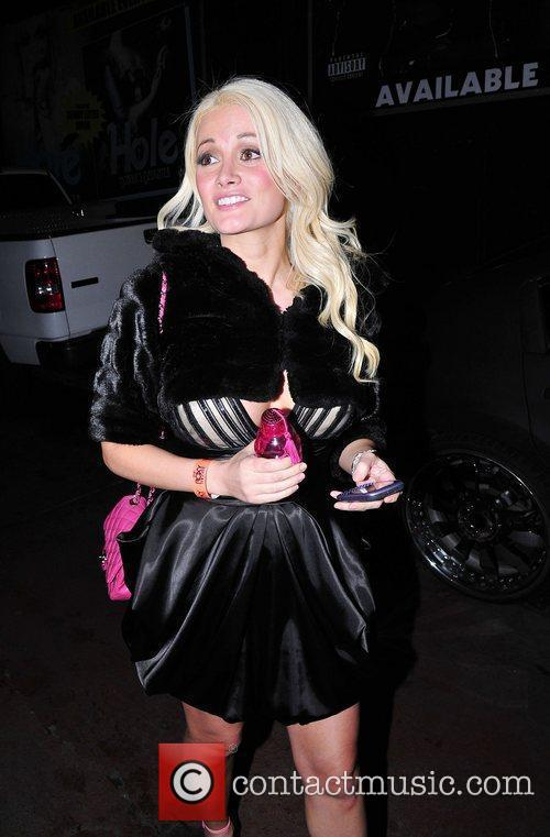 Leaving the Roxy Club after watching Dita Von...