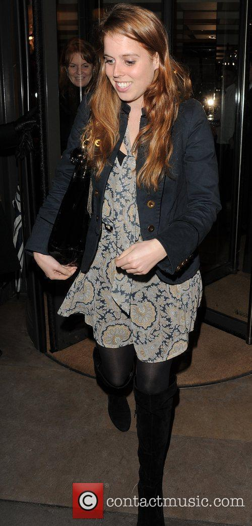 Princess Beatrice leaving Cipriani restaurant, having had dinner...