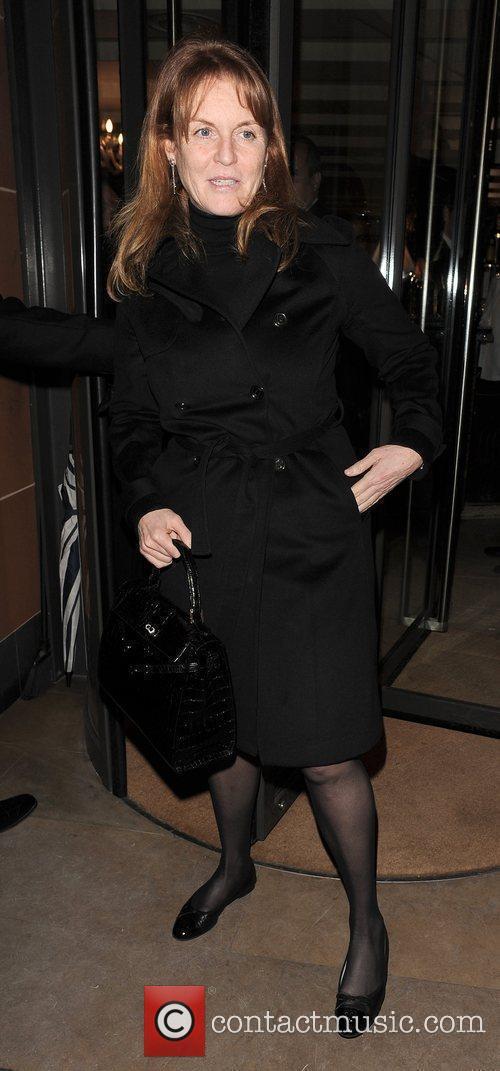 Sarah Ferguson, Duchess of York leaving Cipriani restaurant,...