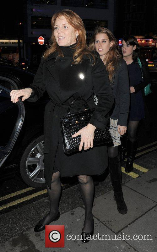 Sarah Ferguson, Duchess of York takes her daughters...