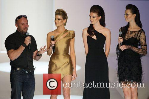 Alex Perry with contestants from Australia's Next Top...