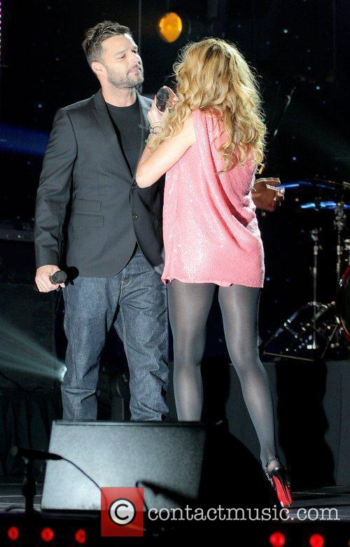 Ricky Martin and Paulina Rubio attends the Paulina...