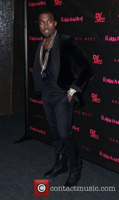 Kanye West The New York premiere of 'Runaway'...