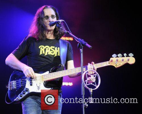 Geddy Lee Canadian rock band Rush performs live...