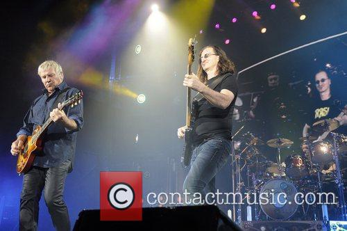 Canadian rock band Rush perform live at the...