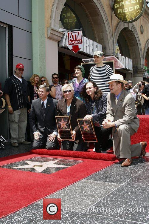 Rush is honoured with the 2,412th Star on...
