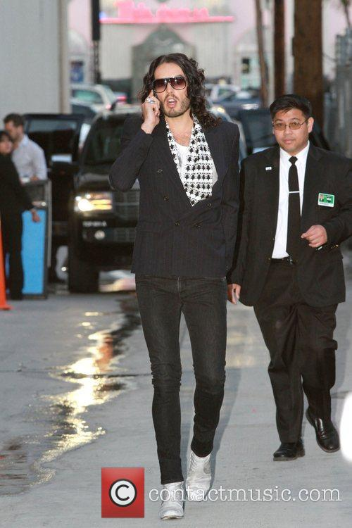 Russell Brand arriving at the El Capitan Theatre...