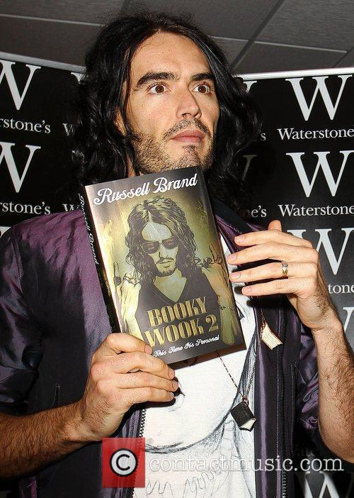 Russell Brand at Waterstone's Book Store to promote...