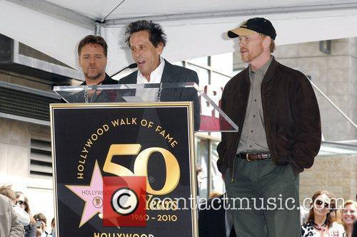 Russell Crowe, Brain Grazer and Ron Howard