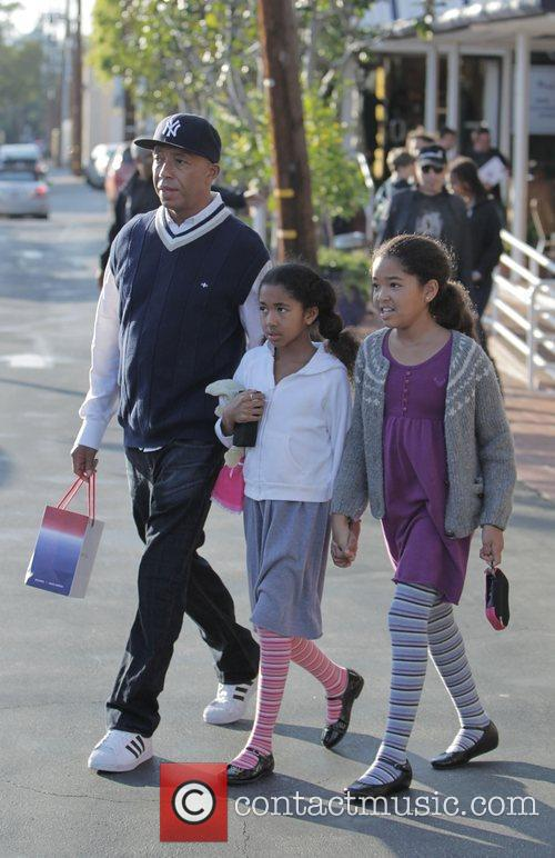 Russell Simmons, His Daughters Ming Lee and Aoki Lee 8