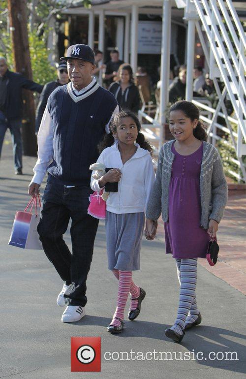 Russell Simmons, His Daughters Ming Lee and Aoki Lee 5