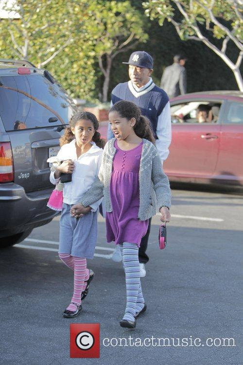Russell Simmons, His Daughters Ming Lee and Aoki Lee 4
