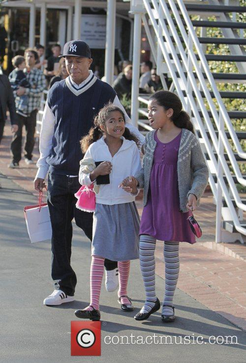 Russell Simmons, His Daughters Ming Lee and Aoki Lee 2