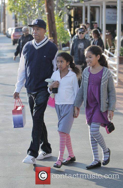 Russell Simmons, His Daughters Ming Lee and Aoki Lee 6