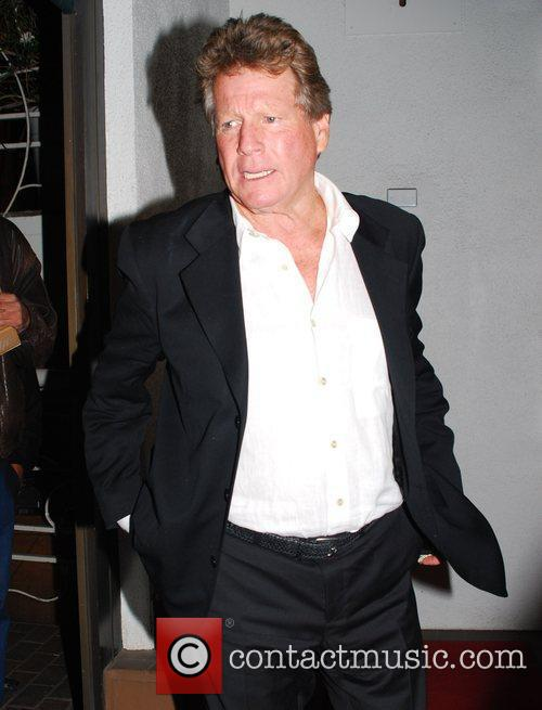 Ryan O'Neal leaving a restaurant