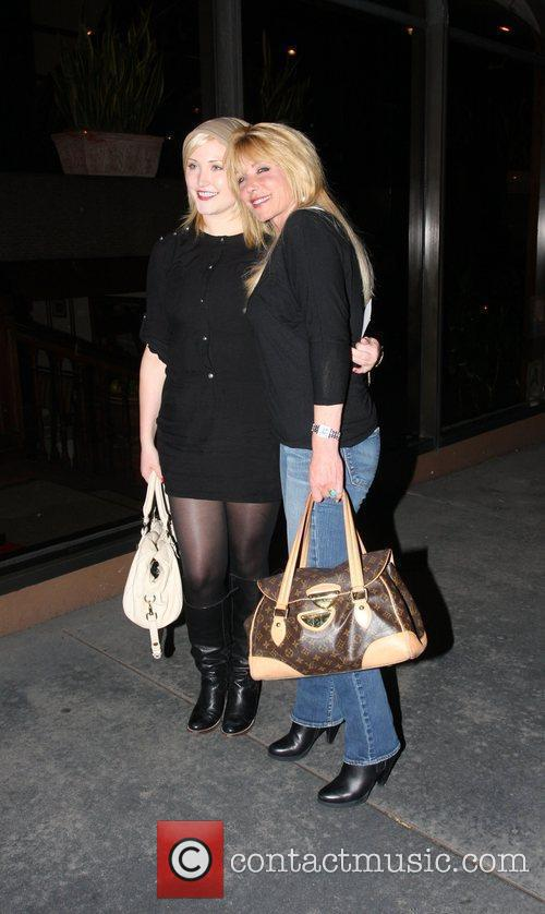 Hayley Amber Hasselhoff and Stephanie Bach leaving Madeo...