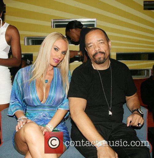 Coco and Rapper Ice-T aka Tracy Marrow attend...