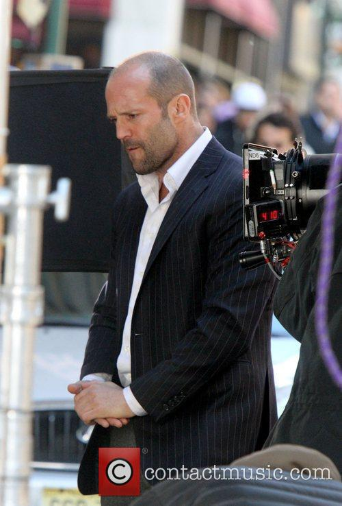 Jason Statham filming 'Safe' on location in Manhattan