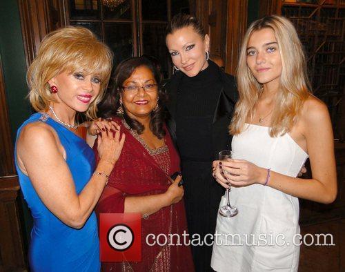 Sally Farmiloe, Guest, Caprice Bourret and Jade Farmiloe...