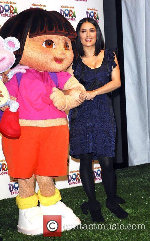 Salma Hayek and Dora The Explorer 7