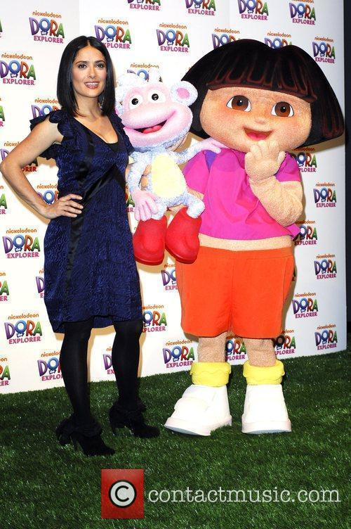 Salma Hayek and Dora The Explorer 4