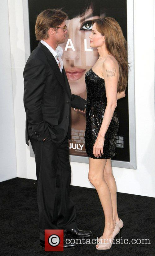 Brad Pitt and Angelina Jolie attending the L.A....