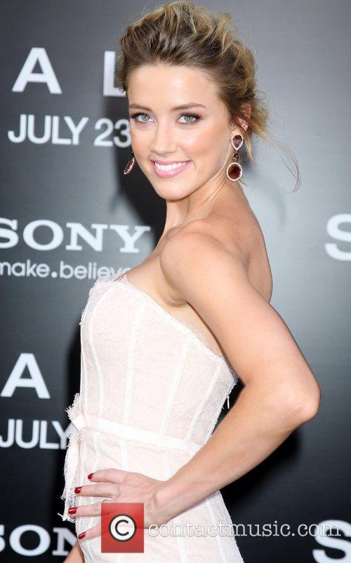 Amber Heard attending the L.A. movie premiere of...