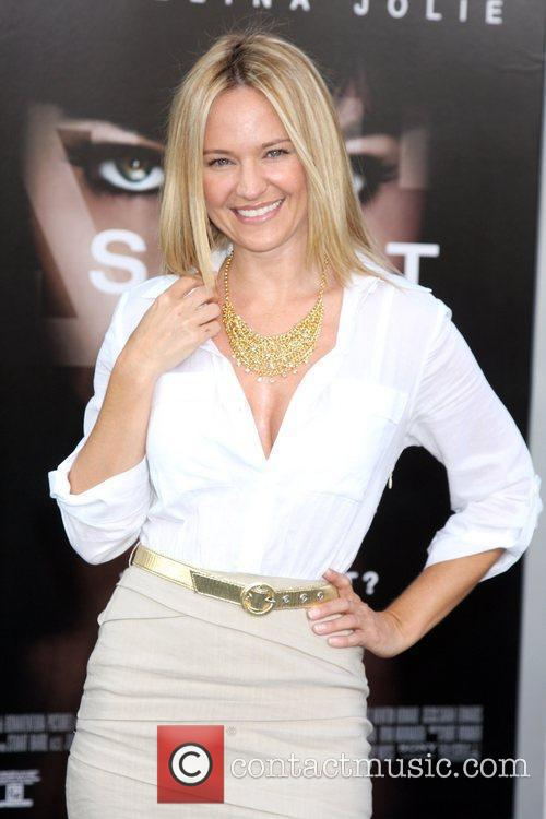 Sharon Case attending the L.A. movie premiere of...