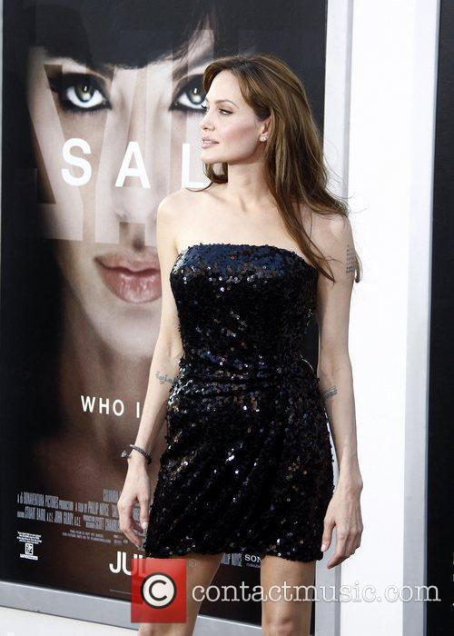 Angelina Jolie attending the L.A. movie premiere of...