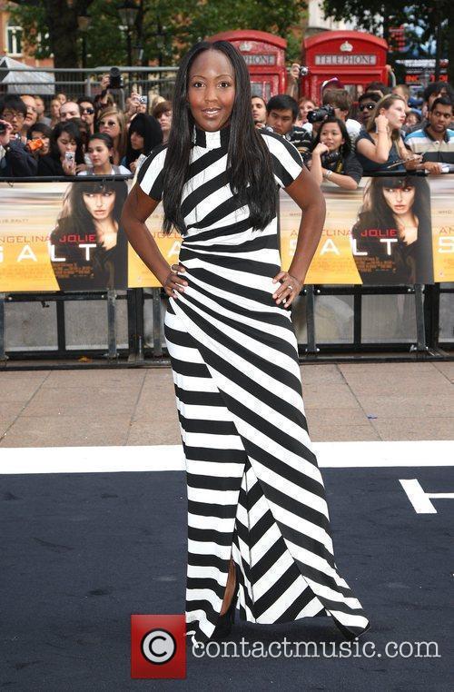 Angellica Bell UK film premiere of 'Salt' held...