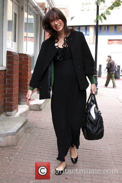 Samantha Cameron  arriving at St Mary's Hospital...