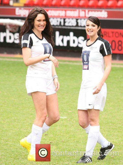 Tulisa (right) Celebrity Soccer Six 2010 - Charlton...