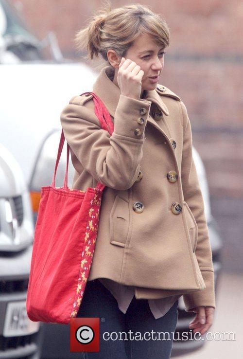 Coronation Street star Samia Smith leaving Granada Studios...