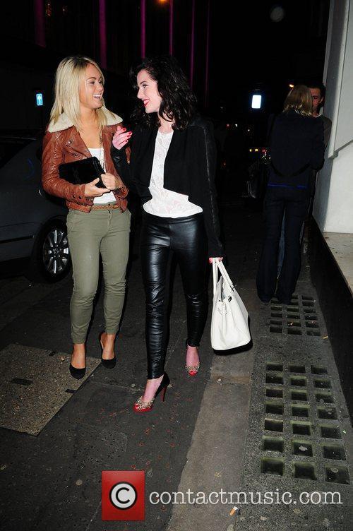 Helen Flanagan leaving San Carlo restaurant Manchester, England
