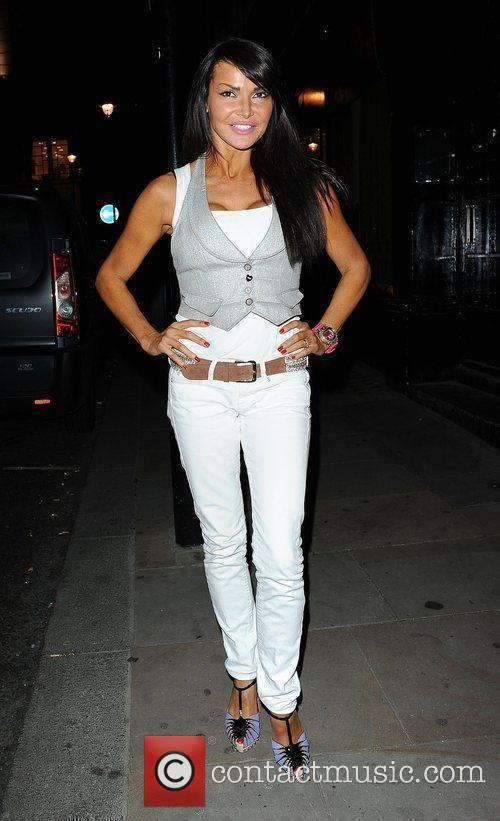 Lizzie Cundy,  at the Sanctum Hotel party...