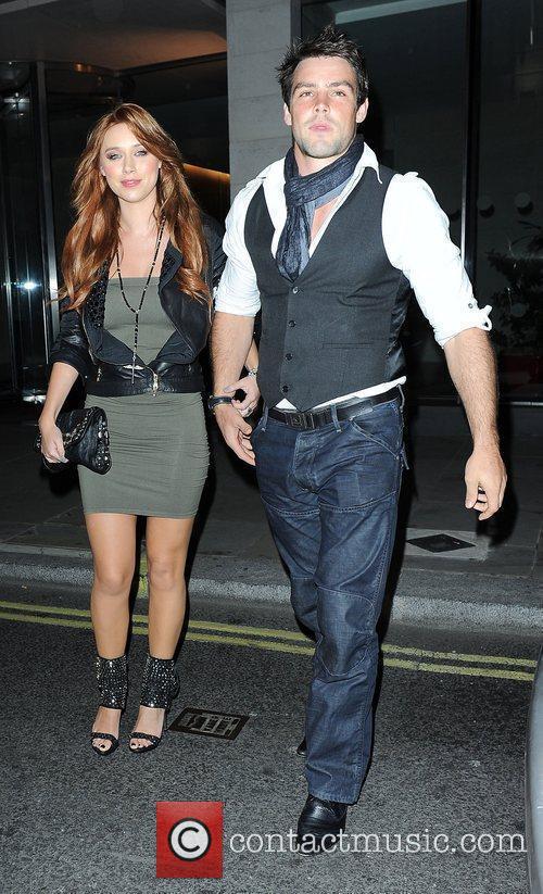 Una Healy of The Saturdays with her boyfriend...