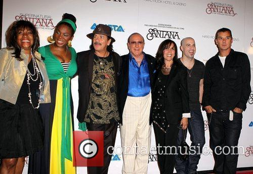 Mary Wilson, Carlos Santana, Chris Daughtry, Clive Davis, Gavin Rossdale, Las Vegas and Olivia Harrison 5