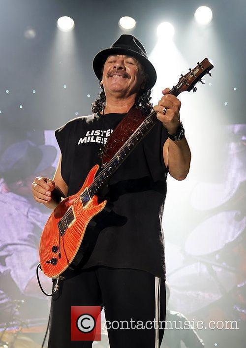 Carlos Santana Performing