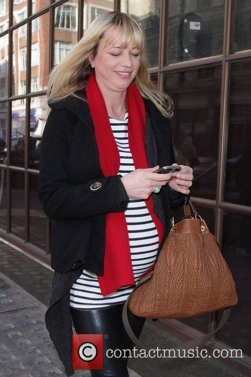 Sara Cox leaving the BBC Radio 1 studios...