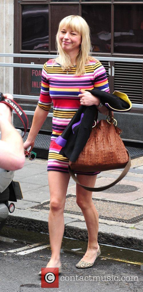 Sara Cox leaving the Radio One studios London,...