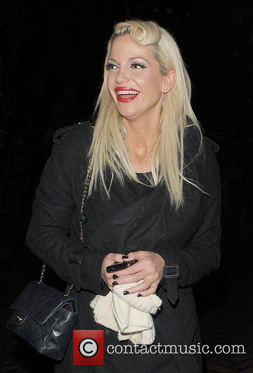Sarah Harding leaving the Capital FM studios in...