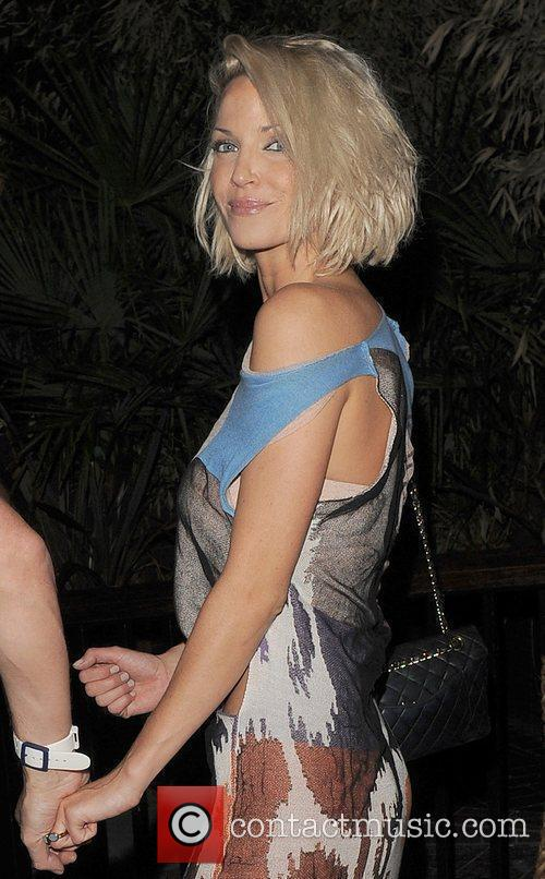Sarah Harding leaving her Kanaloa nightclub at 3am