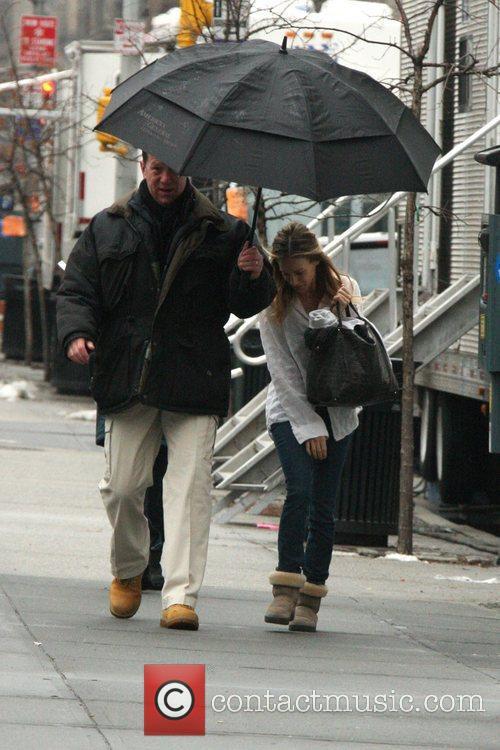 Sarah Jessica Parker  on the film set...