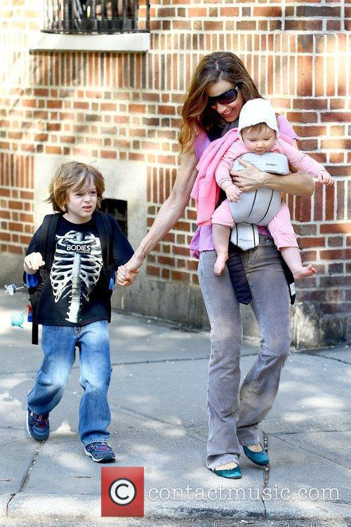 Sarah Jessica Parker walking her son to school...