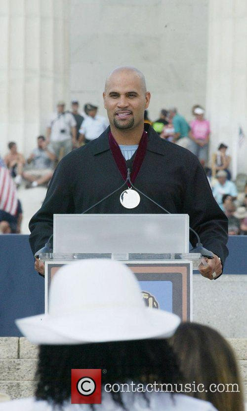 Albert Pujols Rally honouring America's serivce personnel and...